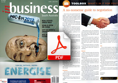 inbusiness magazine pdf